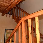 Staircase to the two upstairs bedrooms.